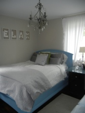Guest Bed & Chandelier